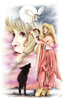 Stevie Nicks Drawing - Nightbird by Johanna Pieterman