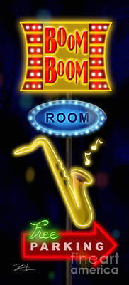 Mixed Media - Nightclub Sign Boom Boom Room by Shari Warren