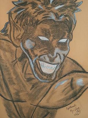 Mystique Drawing - Nightcrawler by Dana Wildy