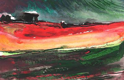 Winter Storm Painting - Nightfall 11 by Miki De Goodaboom