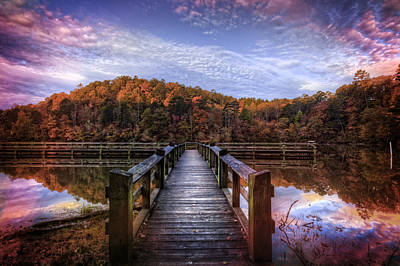Photograph - Nightfall At The Dock by Debra and Dave Vanderlaan