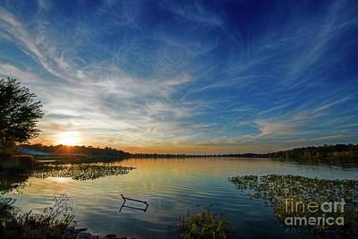 Photograph - Nightfall At The Lake by David Arment
