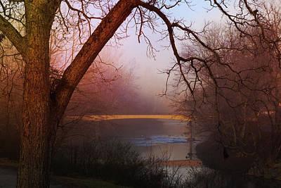 Photograph - Nightfall At The River by Debra and Dave Vanderlaan