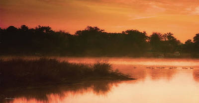 Photograph - Nightfall Ducks by Glenn Gemmell