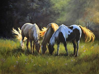 Smoky Mountains Painting - Nightfall Emert's Cove II by Katherine Tucker