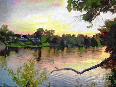 Stockholm Painting - Nightfall by GabeZ Art