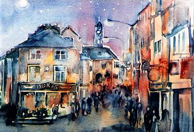 Nightfall. High St. Kilkenny City  Ireland  Art Print
