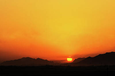 Photograph - Nightfall In Kandahar by SR Green