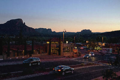 Photograph - Nightfall In Sedona I - Painterly by David Gordon