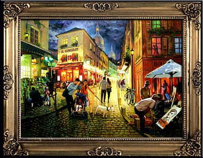 Daniel Wall Painting - Nightfall Montmartre Limited Print by Daniel Wall