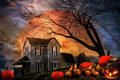 Photograph - Nightfall On Halloween by Debra and Dave Vanderlaan