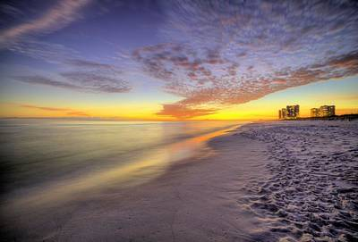 Nightfall On Pensacola Beach Art Print by JC Findley