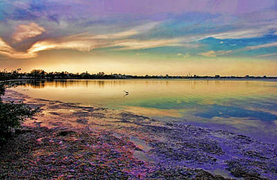 Photograph - Nightfall On The Bay by HH Photography of Florida