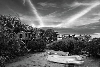 Photograph - Nightfall On The Beach Path Caye Caulker Belize by Lee Vanderwalker
