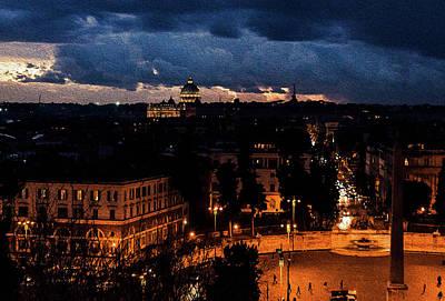 Painting - Nightfall On The Eternal City by Andrea Mazzocchetti