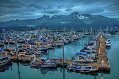 Photograph - Nightfall On The Harbor by Patricia Dennis