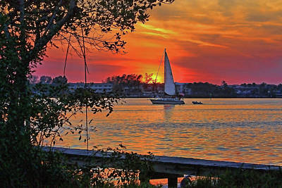 Photograph - Nightfall On The Intracoastal  by HH Photography of Florida