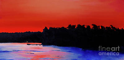 Painting - Nightfall On Winnipesaukee by Sandra Silva