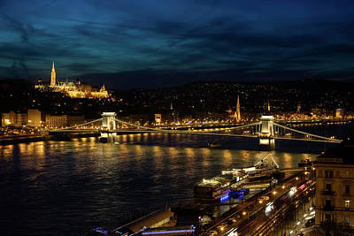 Photograph - Nightfall Over Budapest by John Hoey