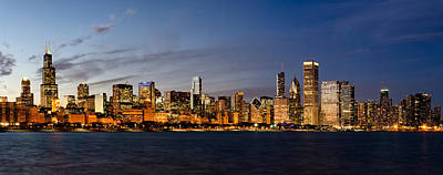 Chicago Skyline Photograph - Nightfall Over Chicago by Matt Hammerstein