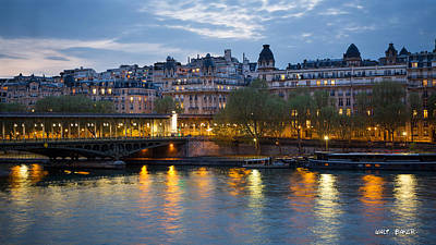 Photograph - Nightfall Over Paris by Walt  Baker