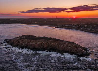 Photograph - Nightfall Over Salt Island by Bert Perry