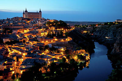 Photograph - Nightfall Over Toledo by Harry Spitz