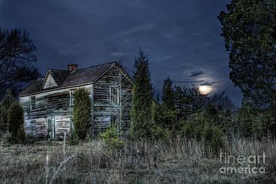 Abandoned Houses Photograph - Nightfall by Sari Sauls