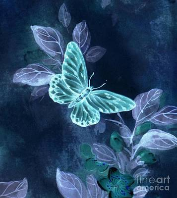 Digital Art - Nightglow Butterfly by Writermore Arts
