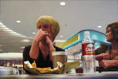 Gaze Painting - Nighthawks At The Foodcourt by James W Johnson