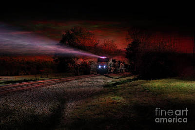 Photograph - Nightime Steel by Rick Lipscomb