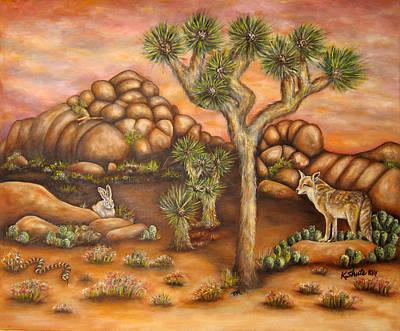 Nightlife In Joshua Tree Art Print by Kathy Shute