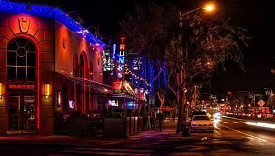 Nightlife On Santa Monica Boulevard Art Print