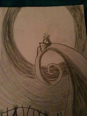 Nightmare Before Christmas Drawing - Nightmare Before Christmas  by M Goe