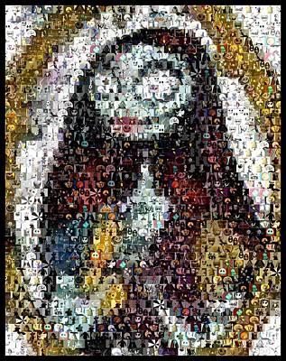 Jack Skellington Digital Art - Nightmare Before Christmas Sally Mosaic by Paul Van Scott