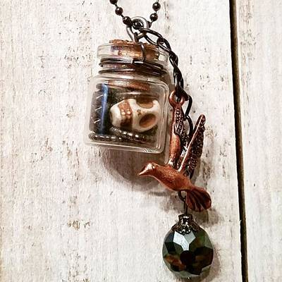 Steampunk Photograph - 'nightmare Birdie' 🐦💀#vial by Katie McCrary