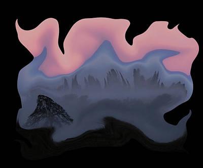 Digital Art - Nightmare In Chico Transparency by Robert Woodward