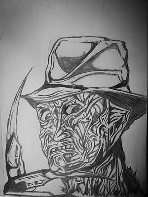 Nightmare On Elm St Art Print