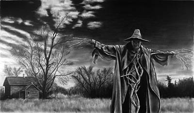 Drawing - Nightmare On The Farm by William Underwood