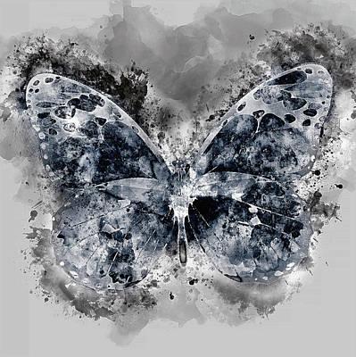 Wall Art - Digital Art - Night's Butterfly  by George Michael