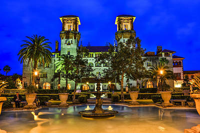 Photograph - Night At The Lightner Museum by Paula Porterfield-Izzo