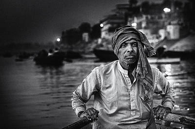 India Wall Art - Photograph - Nights On The Ganges by Piet Flour