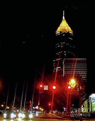 Photograph - Nightscape Atlanta by Lizi Beard-Ward