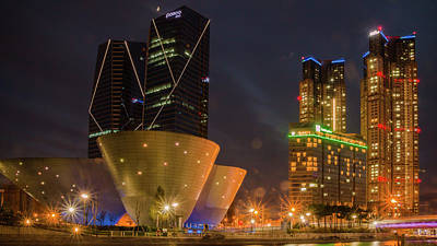 Colorfull Photograph - Nightscape In Songdo, South Korea by Hyuntae Kim