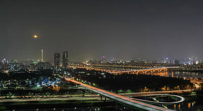 Photograph - Nightscape Of Seoul by Hyuntae Kim