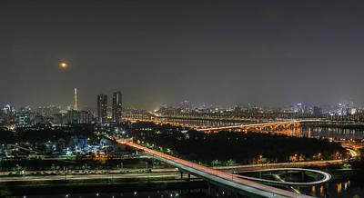 Nightscape Of Seoul Art Print