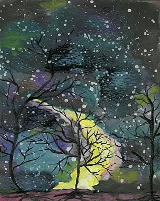 Nightsky Painting - Nightsky by Aslinn Smith