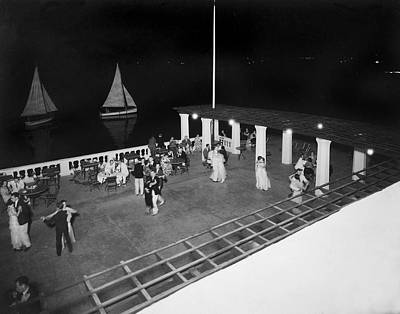Ballroom Photograph - Nighttime Dancing In Bermuda by Underwood Archives