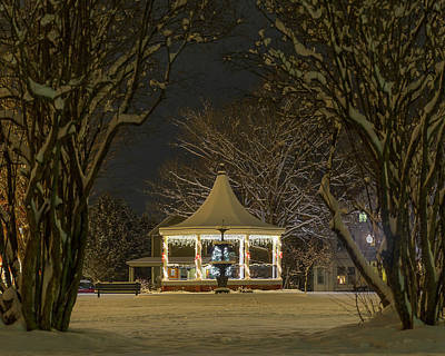 Photograph - Nighttime Gazebo by Tim Kirchoff