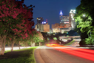 Photograph - Nighttime In Raleigh by Dennis Ludlow